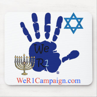 We R1 Jewish Hand Mouse Pad