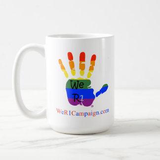 We R1 Love Wins (Rainbow Hand) Mug