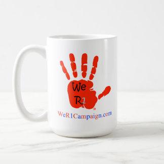 We R1 Love Wins (Red Hand) Mug