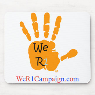 We R1 Orange Hand Mouse Pad