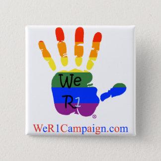 We R1 Rainbow Hand Button