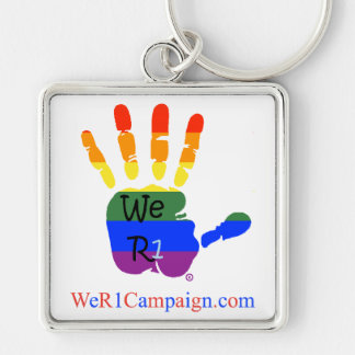 We R1 Rainbow Hands Keychain