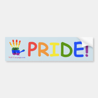 "We R1 Rainbow Hands ""PRIDE!"" Bumper Sticker"