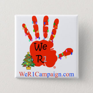 We R1 Red (Christmas) Hand Button