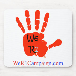 We R1 Red Hand Mouse Pad