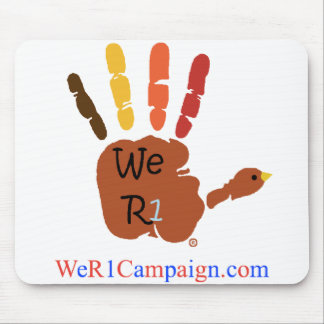 We R1 Thanksgiving Hand Mouse Pad