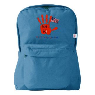 We R1 USA Flag Hand Backpack