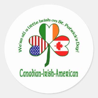 We re all a little Irish - Canada Round Sticker