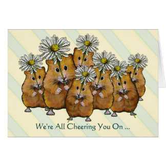 We re All Cheering You On Fight Cancer Hamsters Greeting Cards