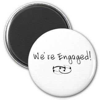 We re Engaged Rings Fridge Magnets