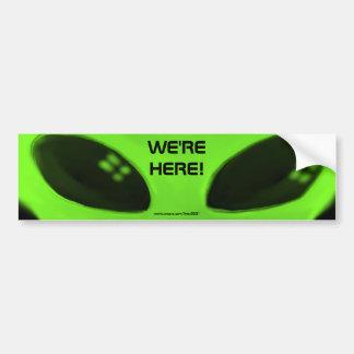 WE RE HERE w words bumper sticker