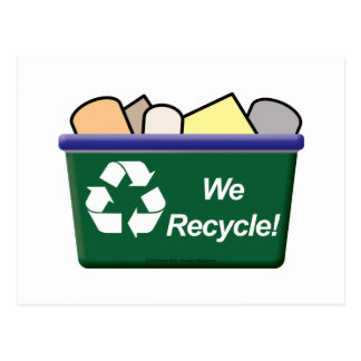 We Recycle! Postcard