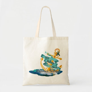 """""""We Refuse To Sink"""" Canvas Tote Bag"""