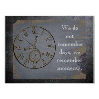 We remember moments -Quote about life - art print