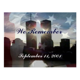 We Remember September 11th Postcard