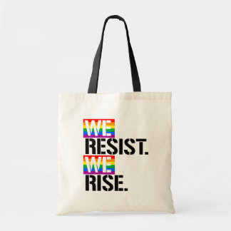 We Resist We Rise - - LGBTQ Rights -  Tote Bag