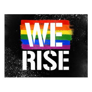 We Rise - LGBTQ Pride -- - LGBTQ Rights -  -  Postcard