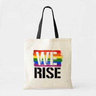 We Rise - LGBTQ Pride -- - LGBTQ Rights -  Tote Bag
