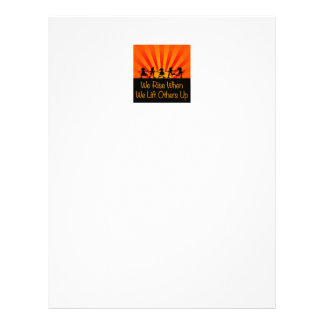 We Rise When We Lift Others Up Letterhead Template