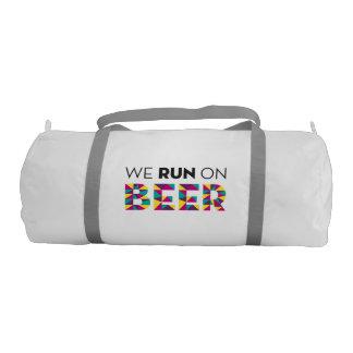 We Run on Beer Gym Bag
