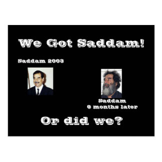 We Saddam! or did we? Postcard