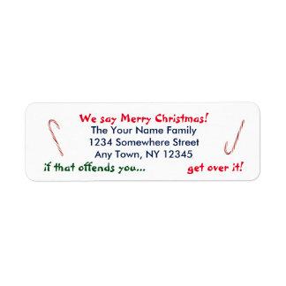 We Say Merry Christmas