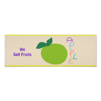 'We Sell Fruits' Poster Sign. Customizable