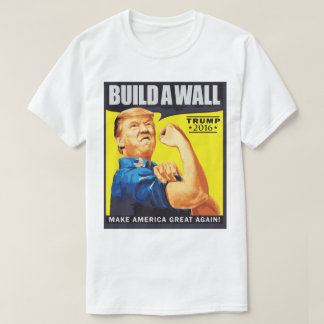 We shall build wall Donald Trump election t-shirt