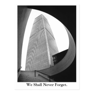 We Shall Never Forget. Postcard
