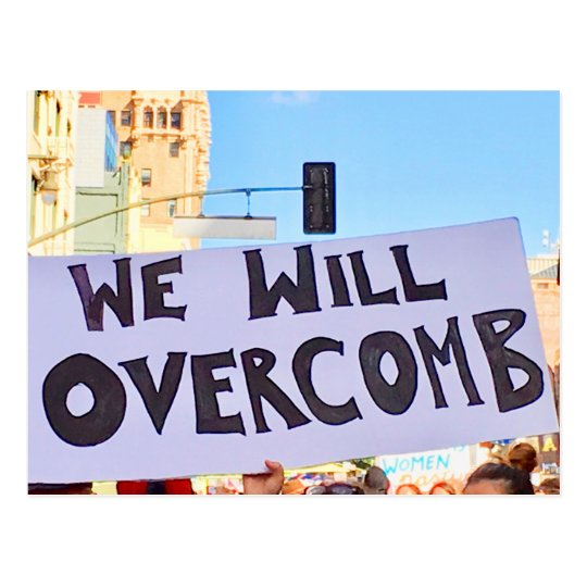 We shall overcomb postcard