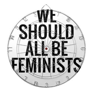 WE SHOULD ALL BE FEMINISTS DARTBOARD