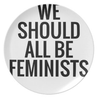 WE SHOULD ALL BE FEMINISTS DINNER PLATE