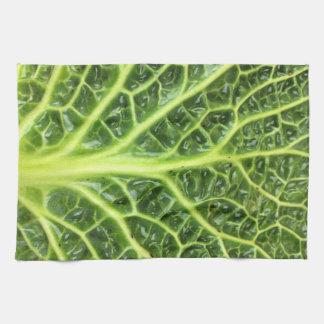 We singing Kohl Savoy cabbage berza chou vert Kitchen Towel