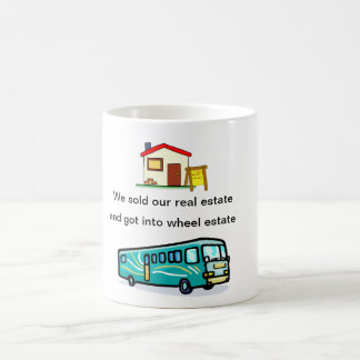 """we sold our real estate....""mug coffee mug"