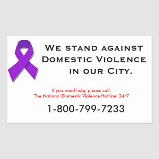 We Stand Against Domestic Violence Sticker