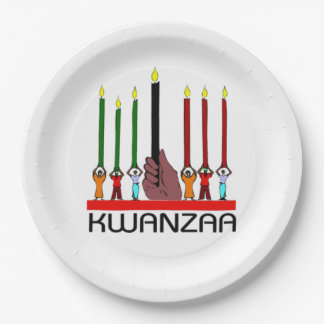 We Stand Tall Kwanzaa Party Paper Plates