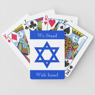 We Stand With Israel Bicycle Playing Cards