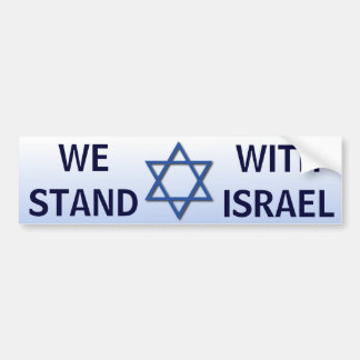 We Stand With Israel Bumper Stickers