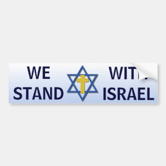 We Stand With Israel Bumper Sticker