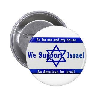 We Support Israel 2 Inch Round Button