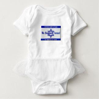 We Support Israel Baby Bodysuit
