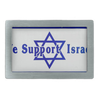 We Support Israel Belt Buckle