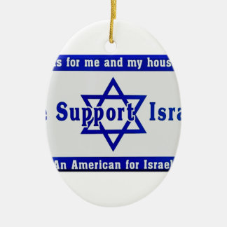 We Support Israel Ceramic Oval Ornament