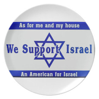We Support Israel Dinner Plate