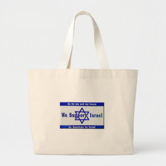 We Support Israel Large Tote Bag