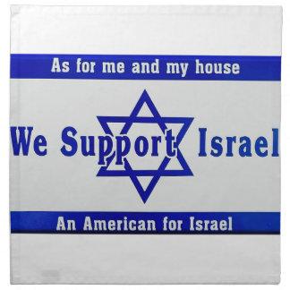We Support Israel Napkin