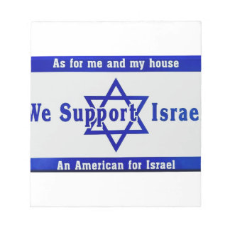 We Support Israel Notepad