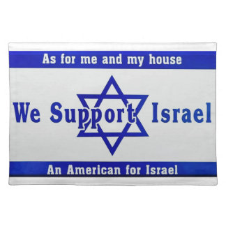 We Support Israel Placemat
