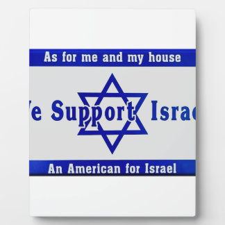 We Support Israel Plaque