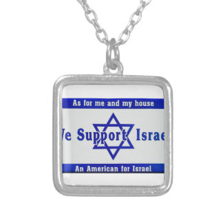 We Support Israel Silver Plated Necklace